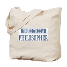 Proud to be a Philosopher Tote Bag