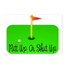 Putt Up Or Shut Up Postcards (Package of 8)