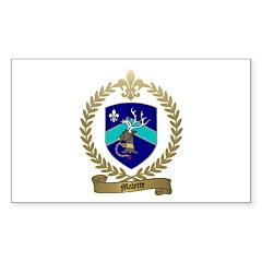 MALETTE Family Crest Rectangle Sticker