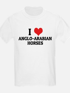 I Love Anglo-Arabian Horses Kids T-Shirt