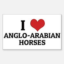I Love Anglo-Arabian Horses Rectangle Decal