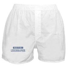 Proud to be a Lexicographer Boxer Shorts