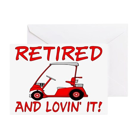 Retired And Lovin' It Greeting Cards (Pk of 20)