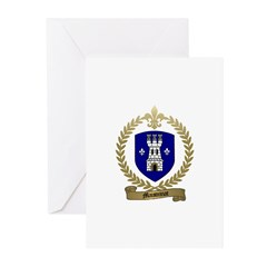 MAISONNAT Family Crest Greeting Cards (Package of
