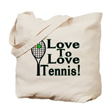 Love To Love Tennis Tote Bag