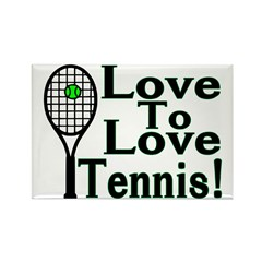 Love To Love Tennis Rectangle Magnet (100 pack)