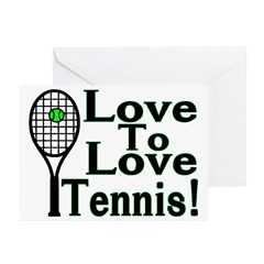 Love To Love Tennis Greeting Cards (Pk of 10)