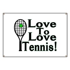 Love To Love Tennis Banner