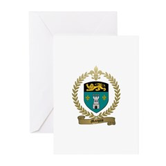 MARQUIS Family Crest Greeting Cards (Pk of 10)
