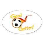 Goal Getter Oval Sticker (10 pk)