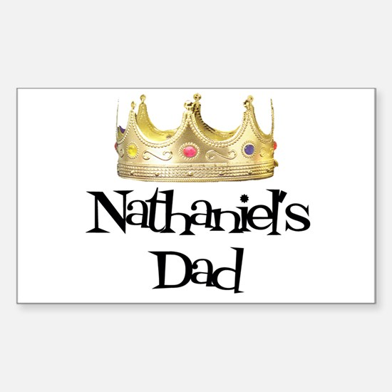 Nathaniel's Dad Rectangle Decal