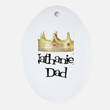 Nathaniel's Dad Oval Ornament