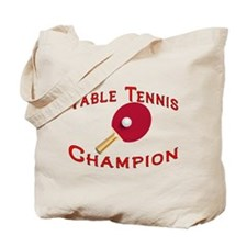 Table Tennis Champion Tote Bag