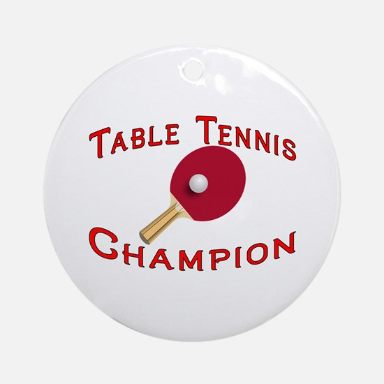 Table Tennis Champion Ornament (Round)