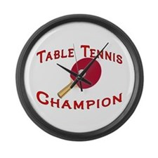 Table Tennis Champion Large Wall Clock
