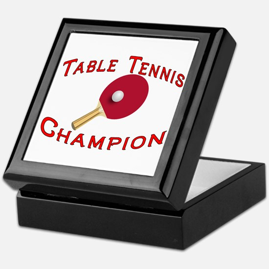 Table Tennis Champion Keepsake Box