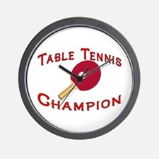 Table Tennis Champion Wall Clock