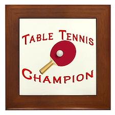 Table Tennis Champion Framed Tile