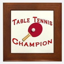 Table Tennis Champion Framed Tile