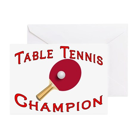 Table Tennis Champion Greeting Cards (Pk of 10)