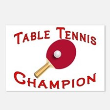 Table Tennis Champion Postcards (Package of 8)