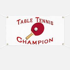 Table Tennis Champion Banner