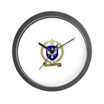 MARTEL Family Crest Wall Clock