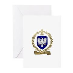MARTELLE Family Crest Greeting Cards (Pk of 10