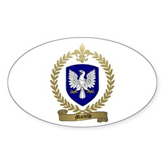 MARTELLE Family Crest Oval Decal
