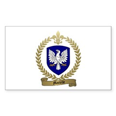 MARTELLE Family Crest Rectangle Decal