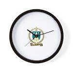 MASSE Family Crest Wall Clock
