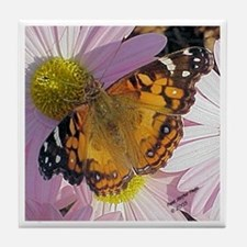 Painted Lady Butterfly Tile Coaster