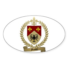MASSON Family Crest Oval Decal