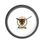 MASSON Family Crest Wall Clock