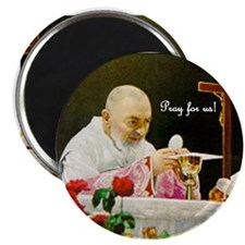 """Padre Pio at Mass 2.25"""" Magnet (100 pack)"""