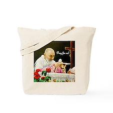 Padre Pio at Mass Tote Bag