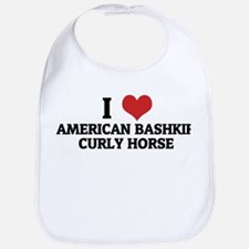 I Love American Bashkir Curly Bib