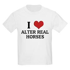 I Love Alter Real Horses Kids T-Shirt