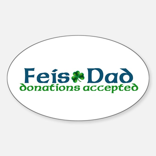 Feis Dad Oval Decal