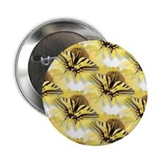 """Yellow Swallowtail Butterfly 2.25"""" Button (10 pack"""