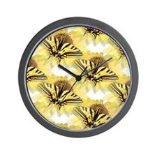 Tiger Swallowtail Butterfly & Daisy Wall Clock
