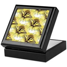 Yellow Swallowtail Butterfly Keepsake Box