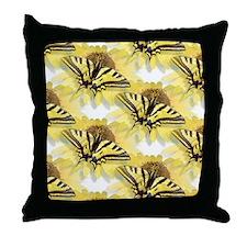 Tiger Swallowtail Butterfly & Daisy Throw Pillow