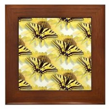 Tiger Swallowtail Butterfly & Daisy Framed Tile