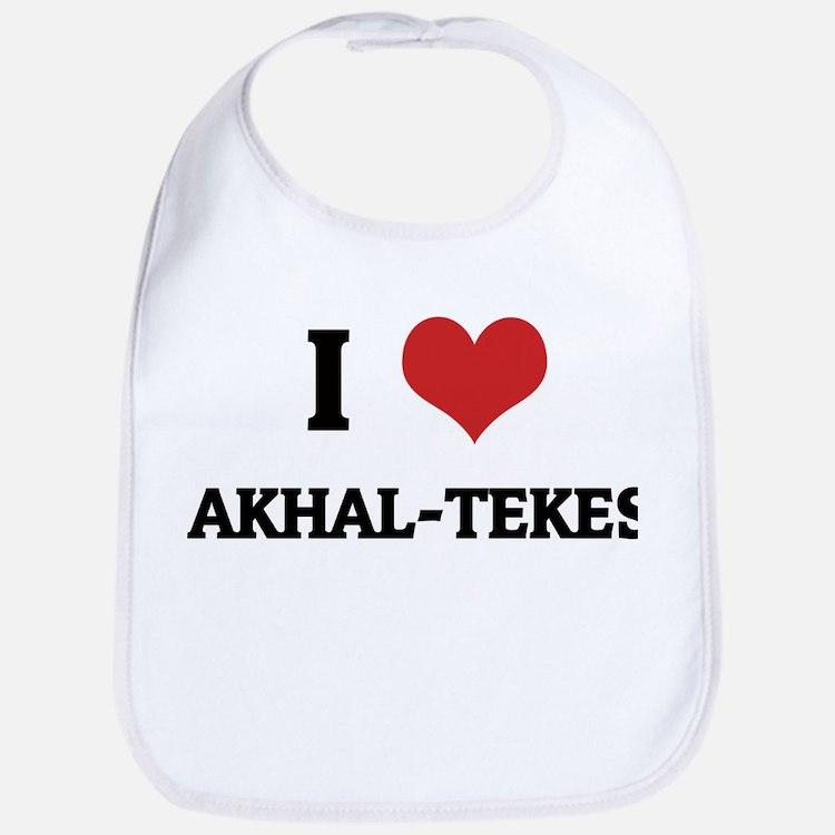 I Love Akhal-Tekes Bib