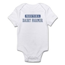Proud to be a Dairy Farmer Infant Bodysuit