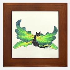 Unique Cat angel Framed Tile