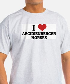I Love Aegidienberger Horses Ash Grey T-Shirt