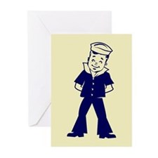 """""""A little Seaman"""" Greeting Cards (Pack of 6)"""