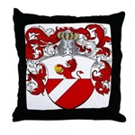 Backer Family Crest Throw Pillow